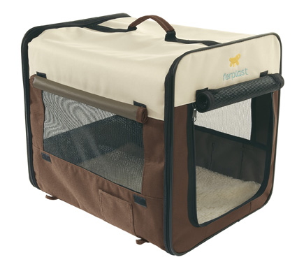 Pet carriers in fabric