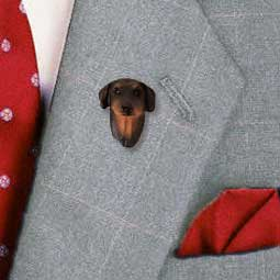 Doberman Pinscher Red w/Uncropped Ears Pin