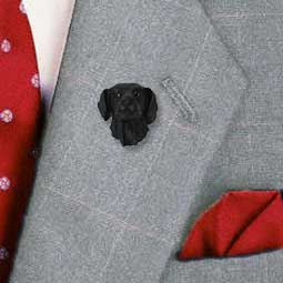 Flat Coated Retriever Pin