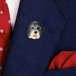 Basenji PinBearded Collie Pin