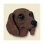 Dog magnets Dachshund red