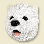 Dog magnets West highland terrier